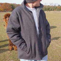 Alpaca Jacket - Alpaca Outerwear mens jacket with zipper