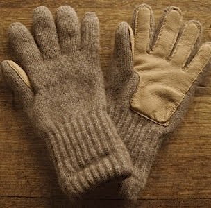 alpaca deerskin gloves
