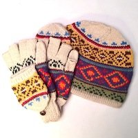 Alpaca Hooded Fingerless glove hooded mitten flap texting glove