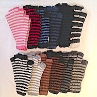 Fingerless gloves alpaca texting gloves warm adults teens youth