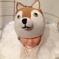 Fox Alpaca Hat, alpaca hat for children