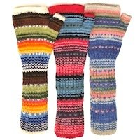 Alpaca Long fingerless Gloves