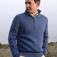 Alpaca Half Zipper sweater