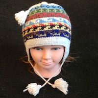 Alpaca hat for youth childrens hat