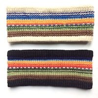 Alpaca Headband Alpaca Ear warmer Lined Rainbow