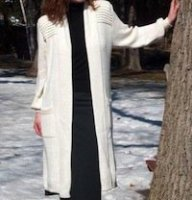 Alpaca Sweater coat, long sweater full length