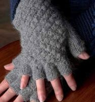 Alpaca Fingerless texting gloves