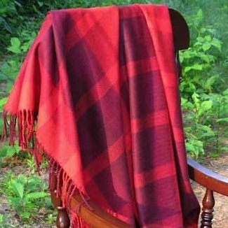 Alpaca Throw - Camel Plaid,Alpaca Throw - Grey Plaid,Alpaca Throw - Periwinkle,Ivory Plaid Throw,Silver-Grey Plaid Throw