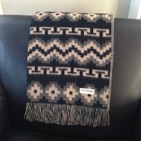Alpaca Throw Alpaca Blanket Incan patter