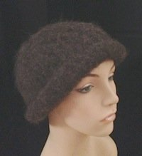 Alpaca Felted Hat hand Knit