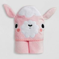 Cotton Terry Alpaca Llama towel for baby