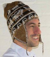 Alpaca flap hat Alpaca chullo for men