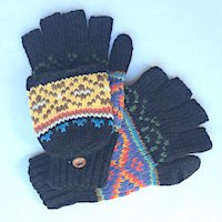 Alpaca hooded texting gloves