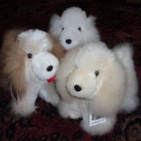 Alpaca Fur stuffed puppy dog toy