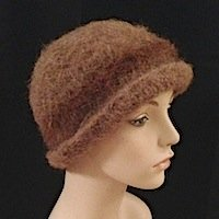 Alpaca Hat Felted hat Hand-knit
