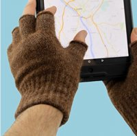 Island Alpaca fingerless texting gloves