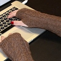 Alpaca Wrist warmers texting gloves arm warmers