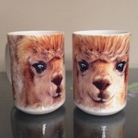 Alpaca Coffee Mug ceramic 12 Ounces