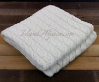 Natural Luxurious Big Chunky Alpaca Blanket Throw