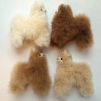 Baby Alpaca fur toy mini plush toy