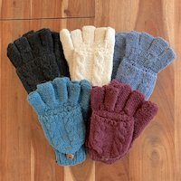 Alpaca Hooded mittens cable luxury sale