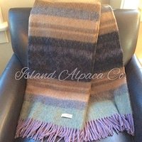 Brushed Alpaca Blanket Throw Sale