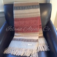 Brushed Alpaca Blanket Throw Sale Rose