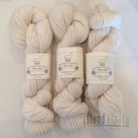 Soft, Island Alpaca Ivory-White Yarn DK Weight