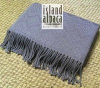 Island Alpaca Throw Blanket Jacquard wrap