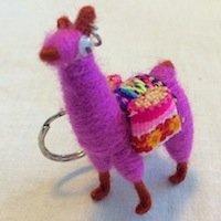 Alpaca Llama Keychain figure