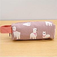Zip cosmetic pencil bag