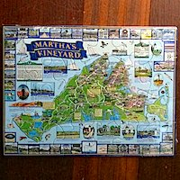 Martha's Vineyard Puzzle postcard Alpaca card