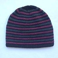 Striped mens hat hipster grunge hip hop cap