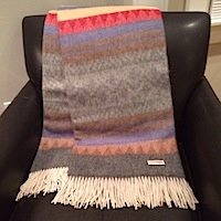 Alpaca Throw Blanket Gift for housewarming