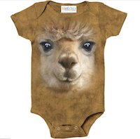 Alpaca Big Face Fun Onesie for Baby