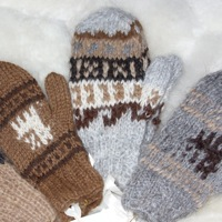 Alpaca Mittens for Children toddlers
