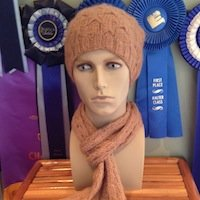 Alpaca Hat and Scarf Set