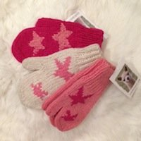 Alpaca mittens for children