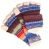 100% Alpaca hooded mitten texting glove