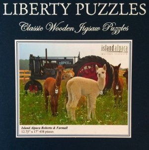 Alpaca Puzzle with pieces wooden quality exclusive
