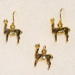 Alpaca Jewelry earrings pendant set charms