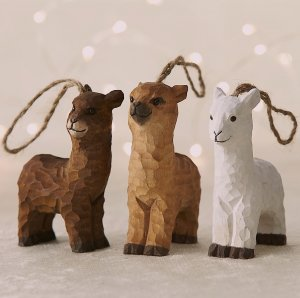 Alpaca Ornament carved wooden