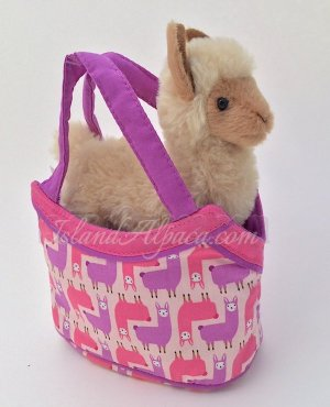 Alpaca Plush toy in purse for girls