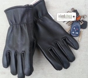 Alpaca lined Leather Gloves for men