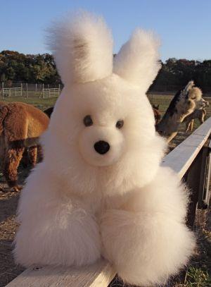 Baby Alpaca Fur Bunny