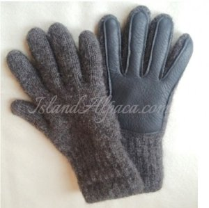 alpaca deerskin gloves for men