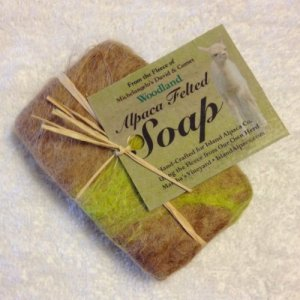 Alpaca Felted Goat's Milk Soap Handcrafted