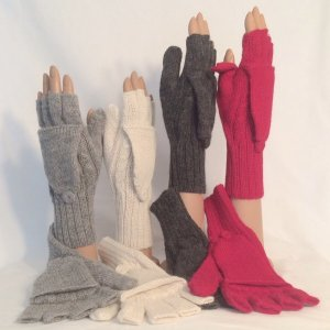 Alpaca texing gloves hooded mittens
