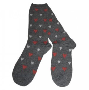 Heart Filled Alpaca Socks for Valentines Day