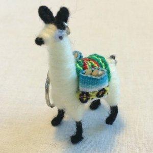 Llama Alpaca Keychain Andean Collectible Handcrafted Miniature Figurine